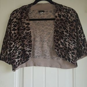Torrid animal print cropped sweater